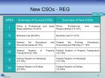 new csos reg