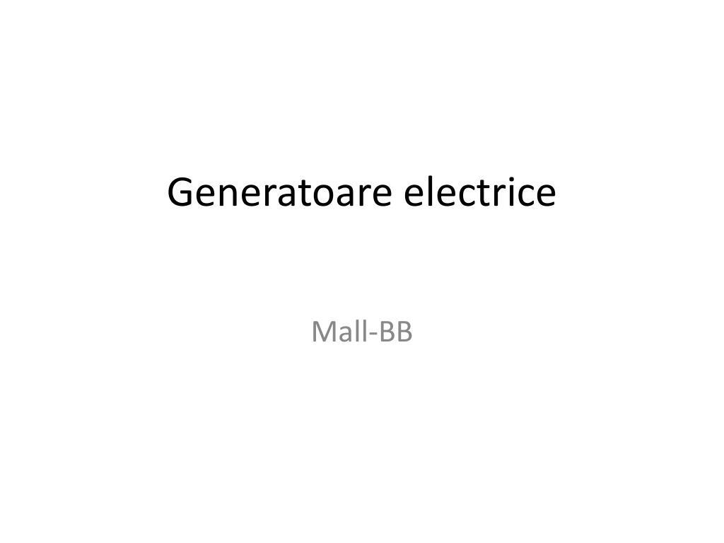 generatoare electrice l.