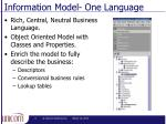 information model one language