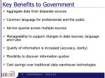 key benefits to government