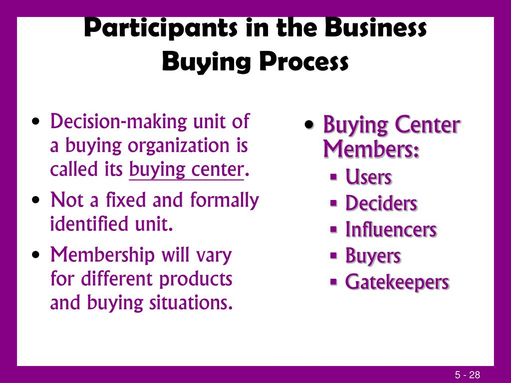 business buying center