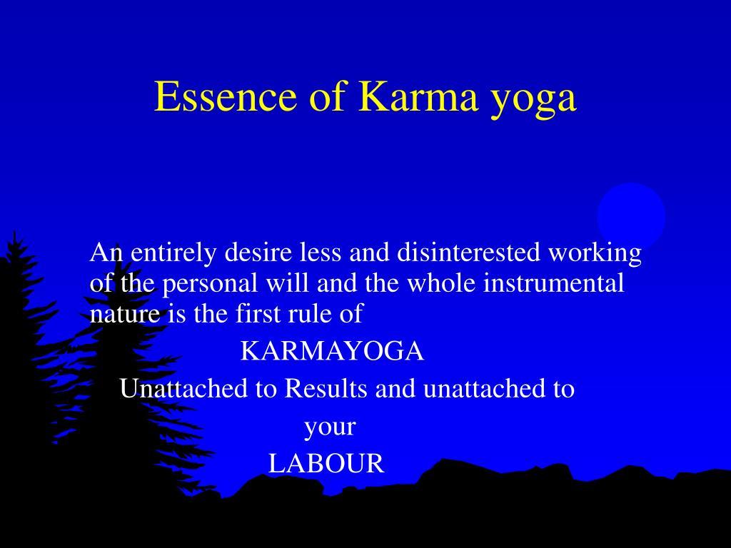 Essence of Karma yoga