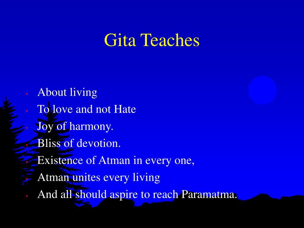 Gita Teaches