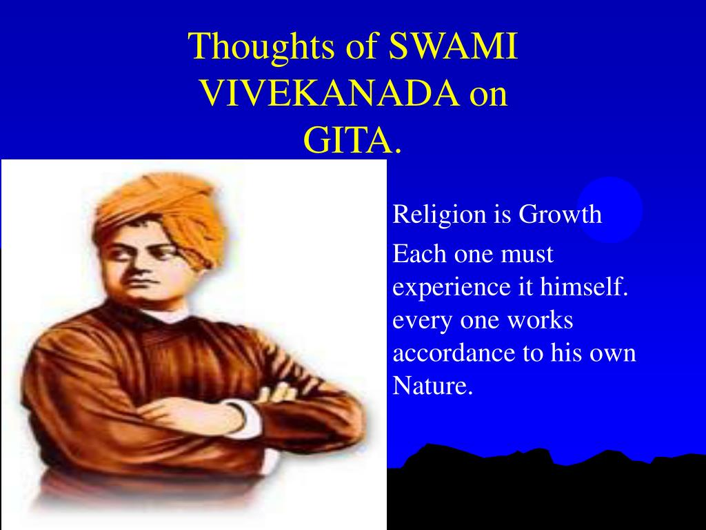 Thoughts of SWAMI VIVEKANADA on