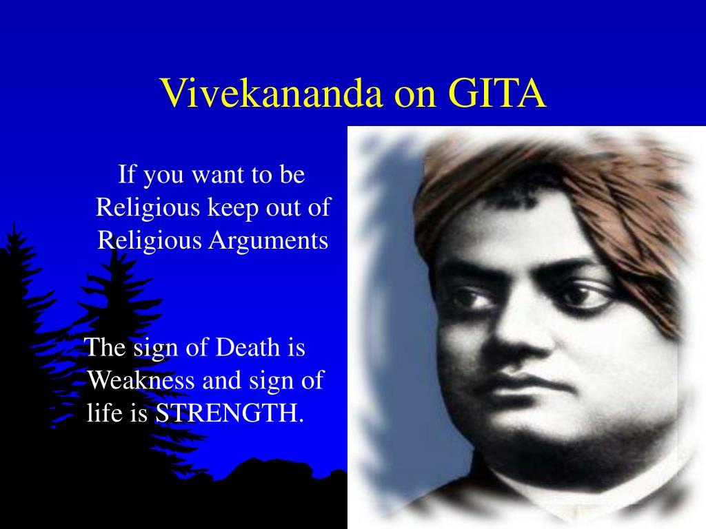Vivekananda on GITA