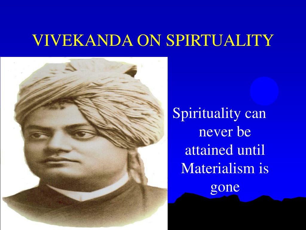 VIVEKANDA ON SPIRTUALITY