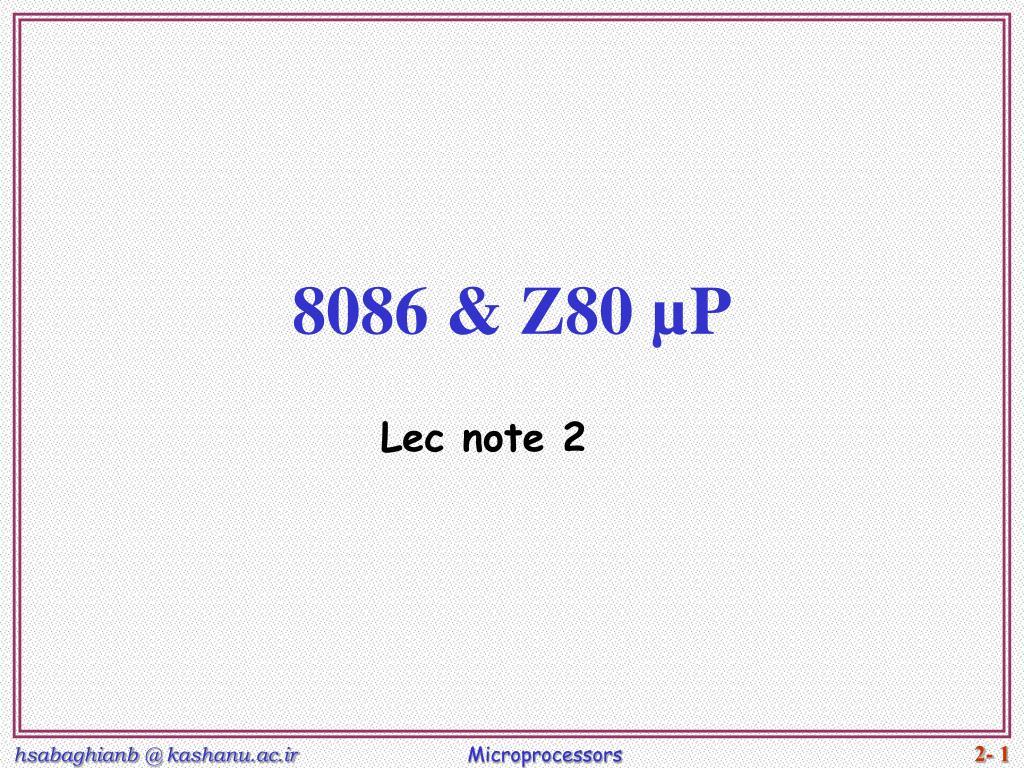 8086 z80 p l.