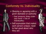 conformity vs individuality