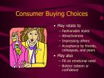consumer buying choices