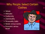 why people select certain clothes
