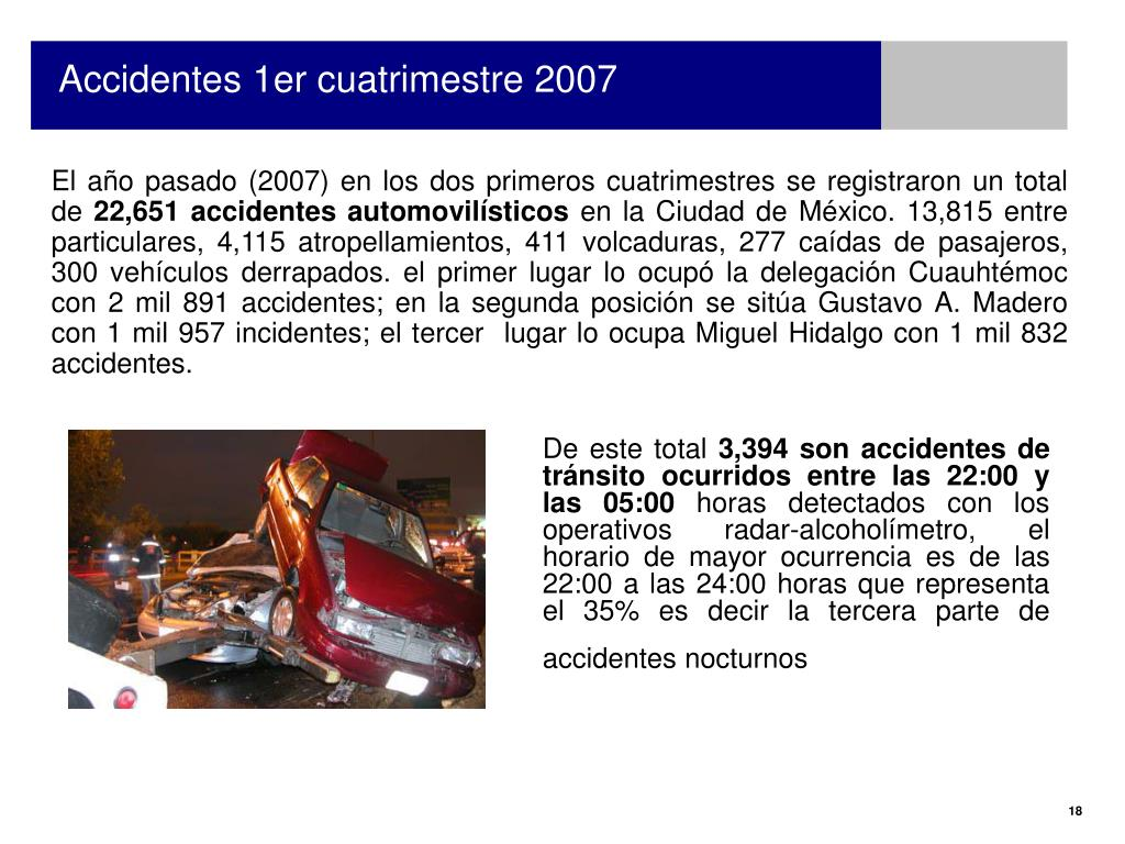 Accidentes 1er cuatrimestre 2007