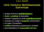 d g r 2034 94 unit valutativa multidimensionale distrettuale