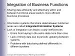 integration of business functions