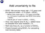 add uncertainty to fits