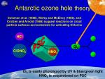 antarctic ozone hole theory