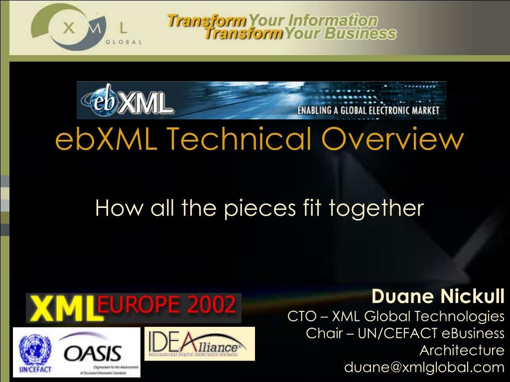 ebxml technical overview l.