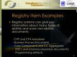 registry item examples