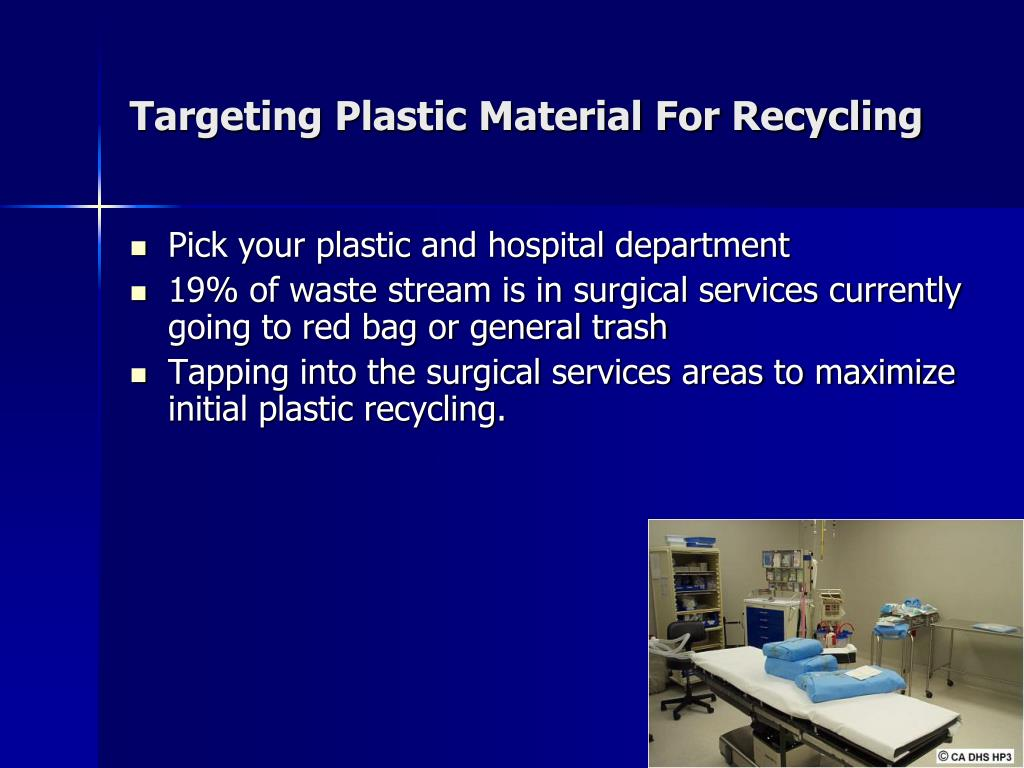 Targeting Plastic Material For Recycling