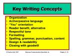 key writing concepts