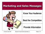 marketing and sales messages31