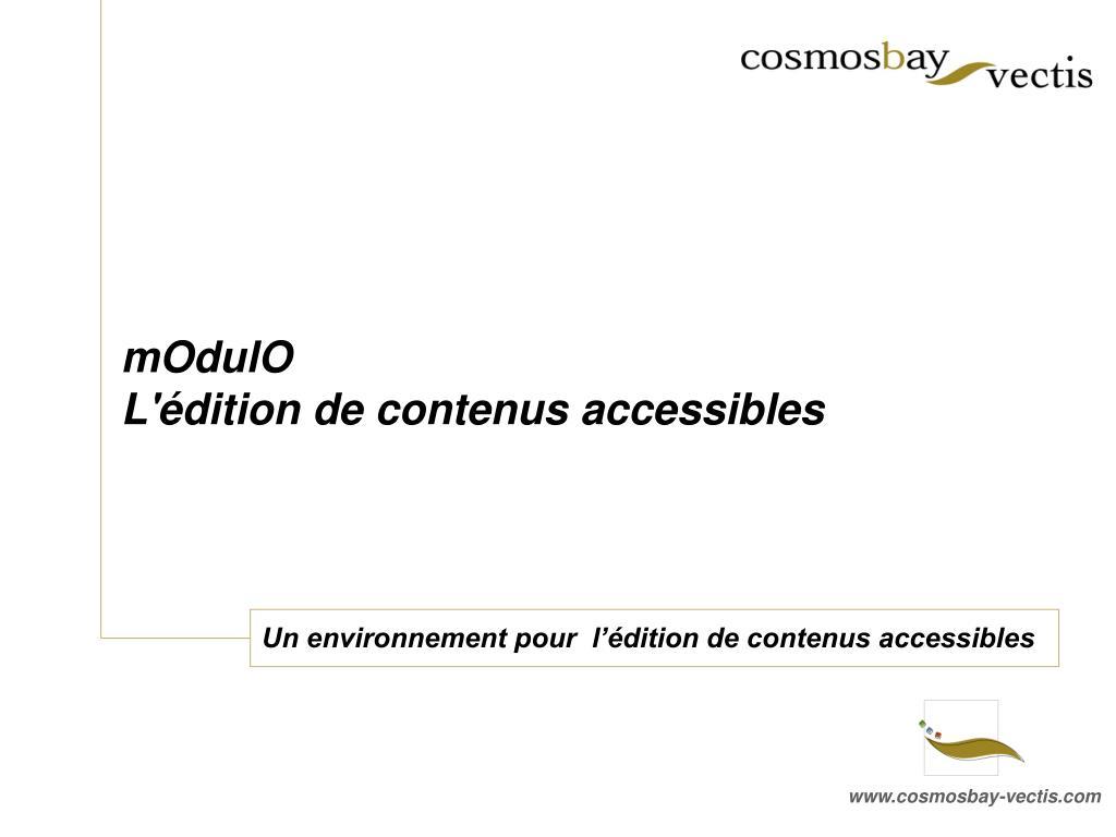 un environnement pour l dition de contenus accessibles l.