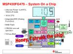 msp430fg479 system on a chip