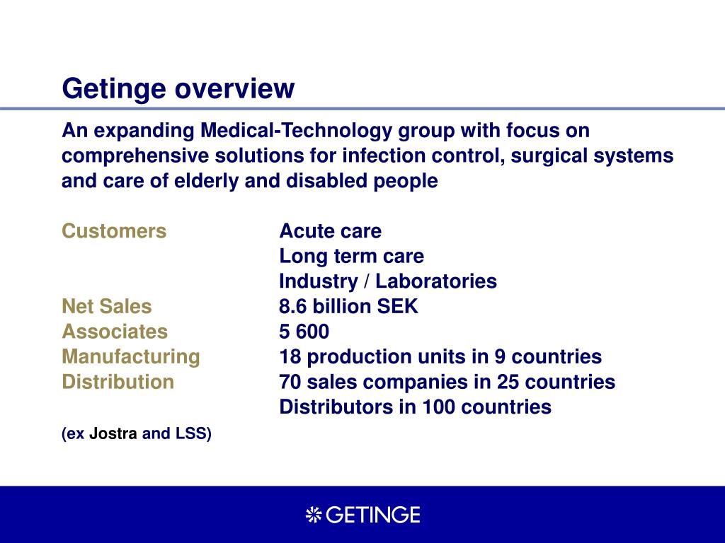 getinge overview l.