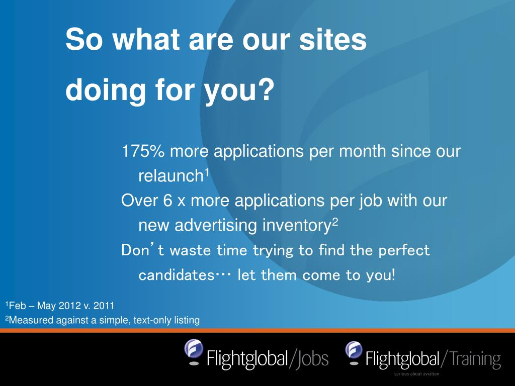 So what are our sites doing for you?