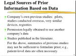 legal sources of prior information based on data