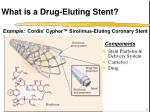 what is a drug eluting stent