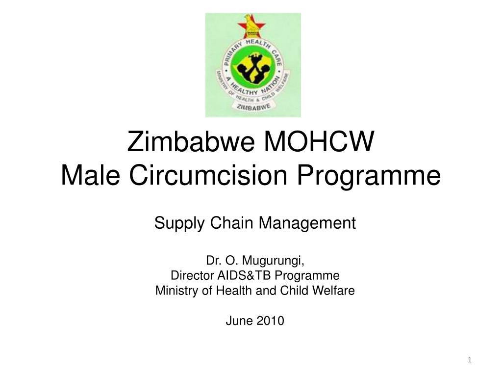 zimbabwe mohcw male circumcision programme l.