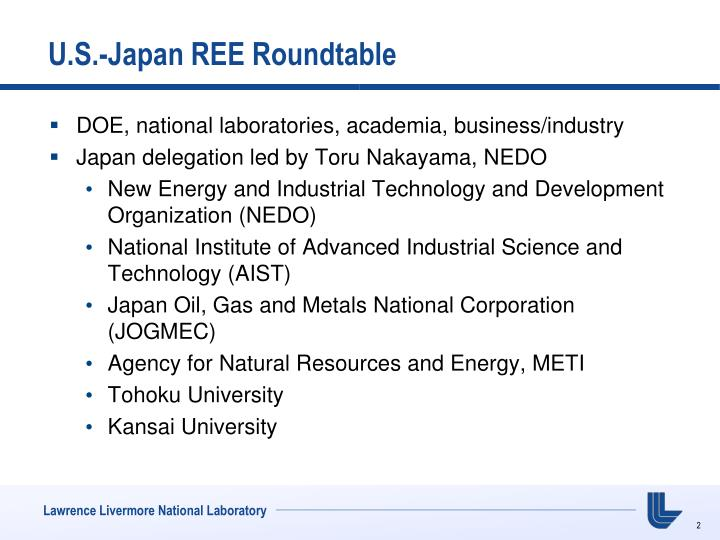 U s japan ree roundtable