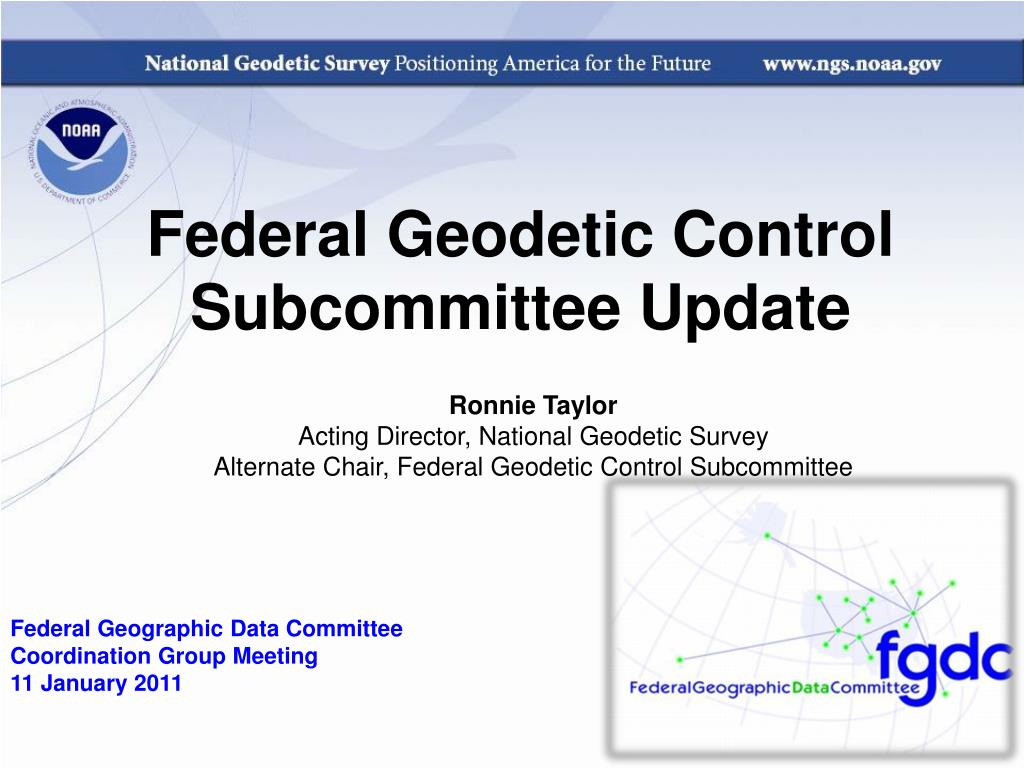 federal geodetic control subcommittee update l.