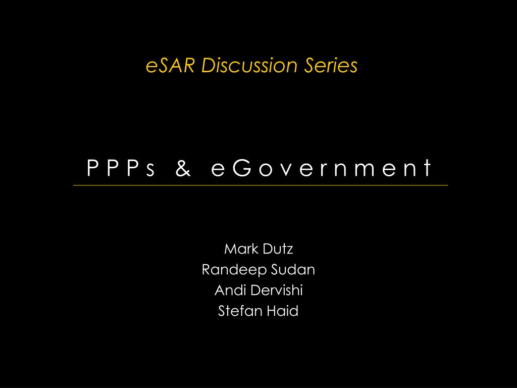 esar discussion series l.