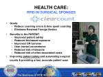 health care rfid in surgical sponges
