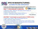 rfid in manufacturing automotive and aerospace