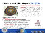 rfid in manufacturing textiles