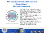 the international rfid business association mission statement