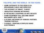 you rfid and the world in ten years