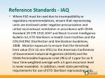 reference standards iaq