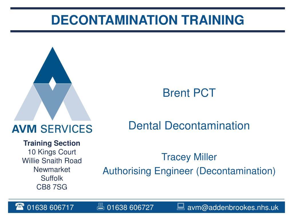 decontamination training l.
