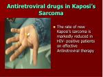 antiretroviral drugs in kaposi s sarcoma