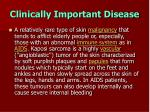 clinically important disease