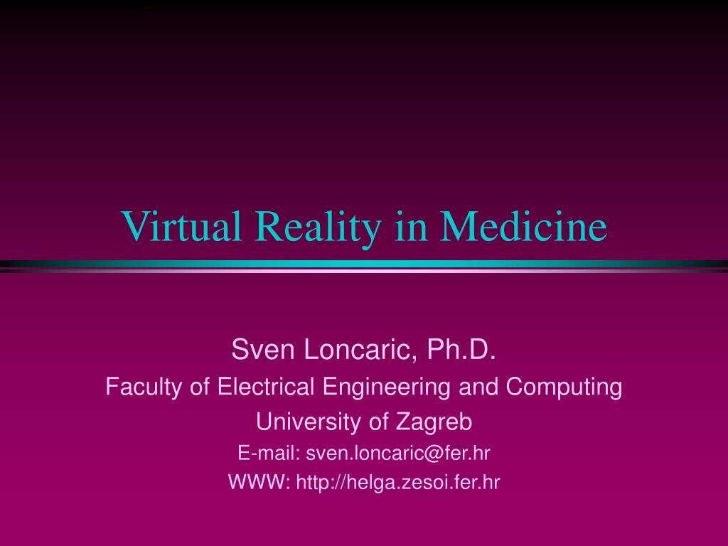 virtual reality in medicine l.