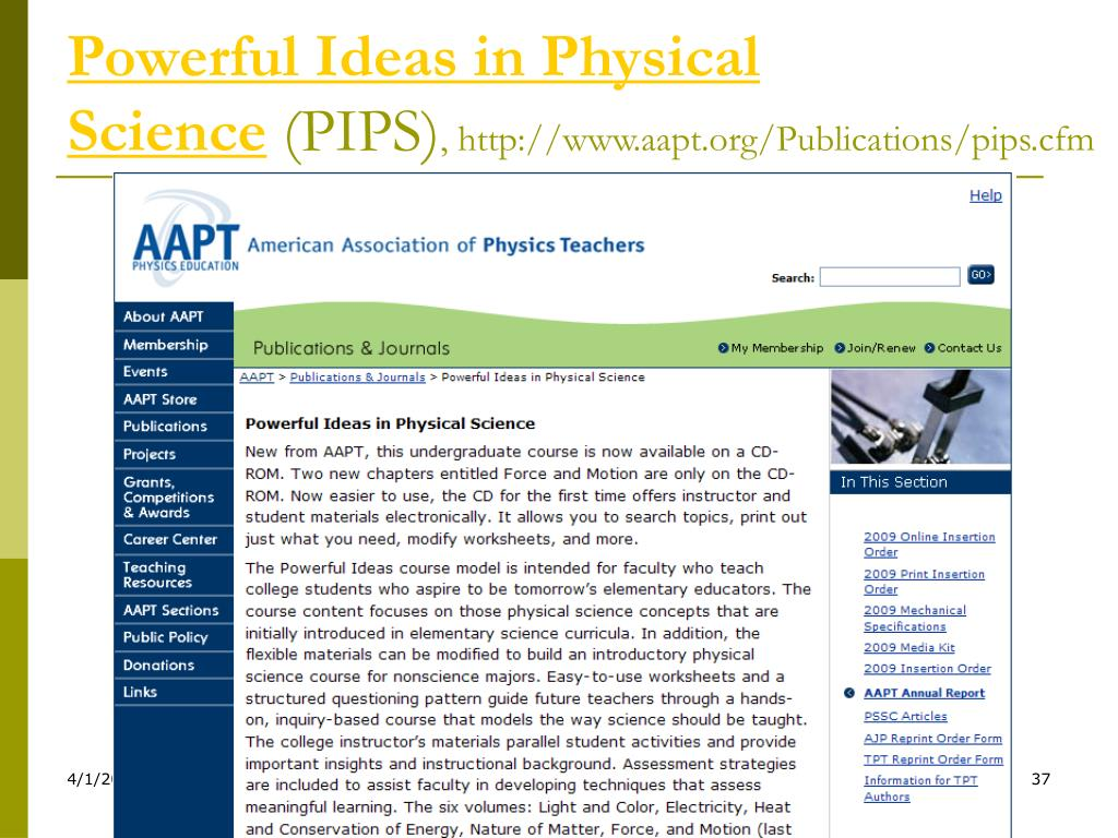Powerful Ideas in Physical Science