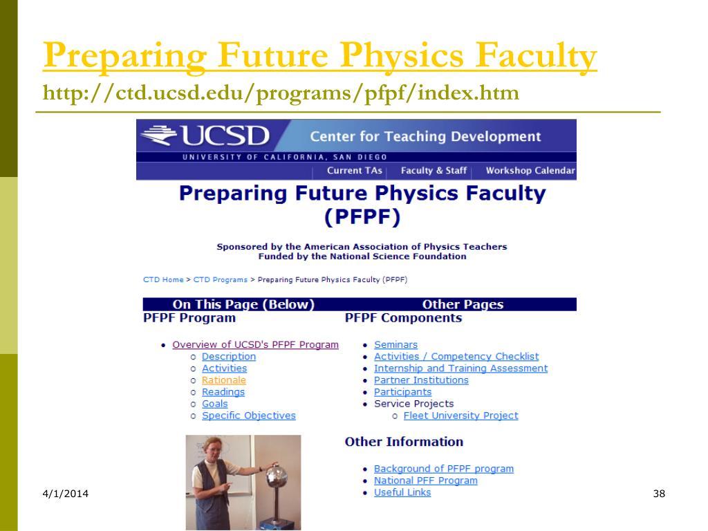 Preparing Future Physics Faculty