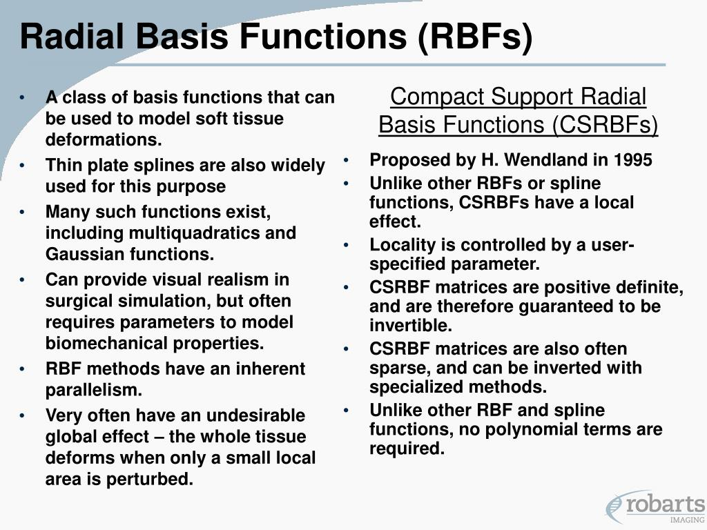 Radial Basis Functions (RBFs)