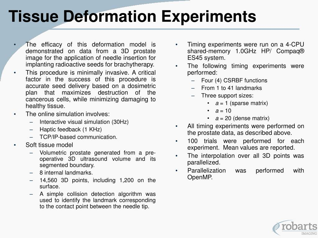 Tissue Deformation Experiments