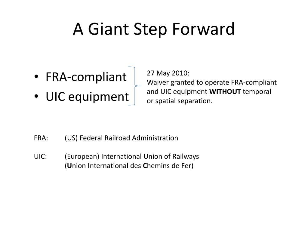 A Giant Step Forward