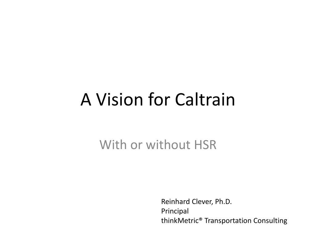 A Vision for Caltrain